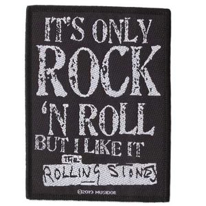 The Rolling Stones patch 'It's only Rock 'n Roll'