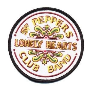 The Beatles patch 'Sgt Pepper drum' (iron on)