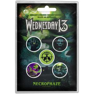 Wednesday 13 button set - Necrophaze