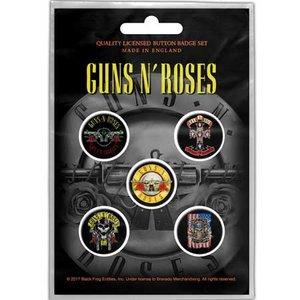Guns N Roses button set - Bullet logo